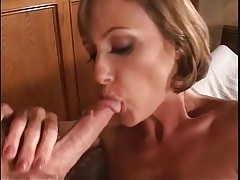 Milf with fit body fucked in her black stockings tubes