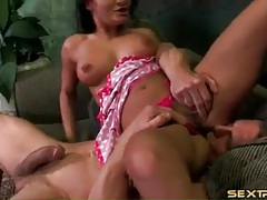 Cock down the throat of slutty Sandra Romain tubes
