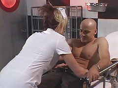 Nurse sucks his dick and gets fucked in the ass tubes