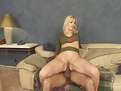 Sexy red heels on blonde that loves anal sex tubes