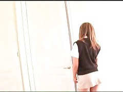 Schoolgirl outfit on a cocksucking Asian girl tubes