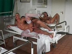 Nurses ass fucked by a big cock patient tubes