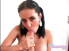 Braces on girl sucking big dick in POV tubes