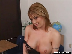 Incredible fake tits on a cocksucking slut tubes