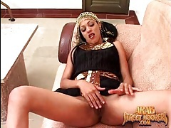 Arab chick in black dress sucks his dick tubes