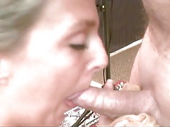 Close up on her sexy cocksucking mouth tubes