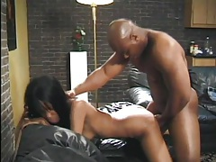 Skinny ebony girl laid in the lovely pussy tubes