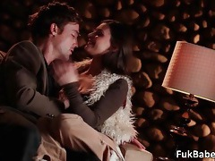 Amazing aroused couple Victoria Lawson and Richie having hoot and wet sex tubes