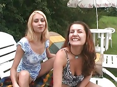 Blowjobs and pussy eating in outdoor foursome tubes