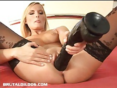 Petra loving the feeling of a massive brutal dildo tubes