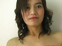 Cute Asian amateur receives nice cumshot tubes