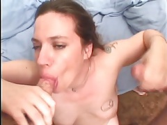 Fat girl loves thick dicks in her mouth and pussy tubes