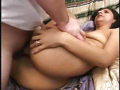 Big sticky cumshot lands in her pubic hair tubes
