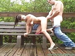 Girl with Big Tits Fuck Hard at the Board Walk tubes