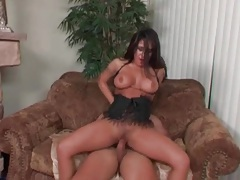 Great looking Jenaveve Jolie sits on his hard dick tubes