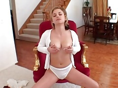 Cutie unbuttons cardigan and models big tits tubes