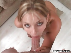 Pierced tongue cutie gives a great handjob tubes