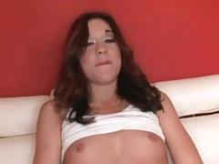 Skinny girl with tiny tits eaten out tubes