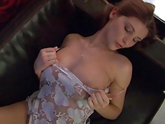 Sensual video with big tits girl in lingerie tubes