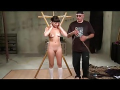 Tied asian whipped and toyed tubes