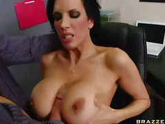 Red blouse on babe sucking a big cock tubes