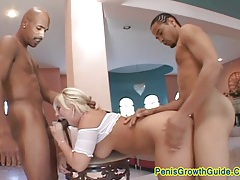 Her big ass handled two dick tubes