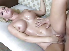 Blonde with perfect fake boobs fucks hardcore tubes