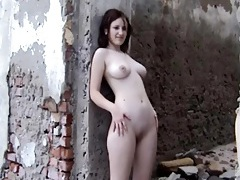 Outdoor photo shoot with big tits redhead tubes