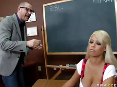 Busty slut bridgette b nailed on a desk tubes