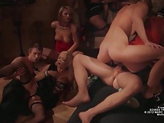 Wild orgy with double penetrations and hot sluts tubes