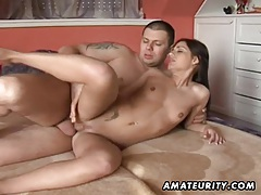 Stunning amateur girlfriend ass fucked with creampie tubes