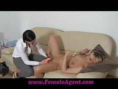 Femaleagent fingers and toys tubes