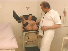 Naughty cunt exam and fuck with old doctor tubes