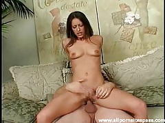 Mom with small tits looks sexy sitting on a dick tubes