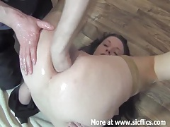 Fisting the wifes ass for the first time tubes