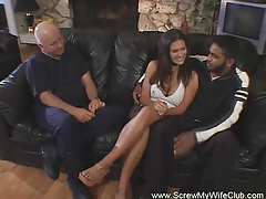 Hotwife swings in front of husband yeah tubes