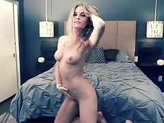 Blonde lena erickson strips in the bedroom tubes