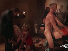 Orgy party with glamorous european pornstars tubes