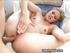 Hot blonde fucked on her ass tubes