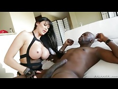Fishnets and lingerie make hot milf sexy for bbc tubes