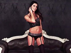 Nicole sjoberg sparkles in her sexy lingerie tubes