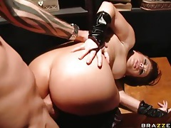 Kinky katja kassin takes big cock in butt tubes