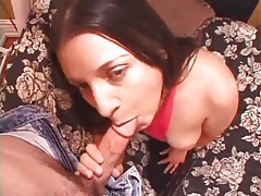 Dipping dick into a curvy girl that sucks his cock tubes