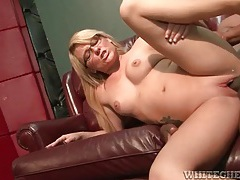 Cute milf nerd fucked and taking cumshot in armpit tubes