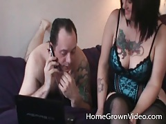 Couple joined by a guy for a sexy threesome tubes