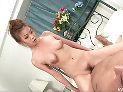 Cutie with perky tits fucked in her japanese pussy tubes