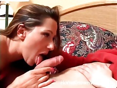 Cocksucker fucked in her pink panties in hotel tubes