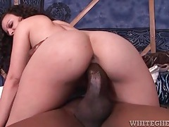 He eats white pussy to fuck that girl with bbc tubes