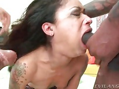She gives gagging blowjobs to many men tubes