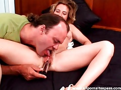 Eating out a hairy hole and getting dick sucked tubes